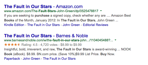 Amazon's Google Problem: Disappearing Review Stars