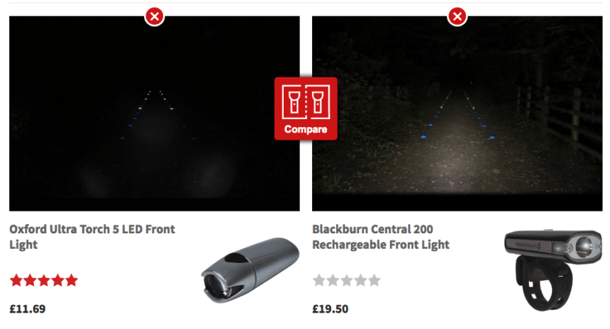 Bike Light Comparison