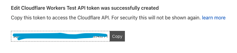 Cloudflare Token